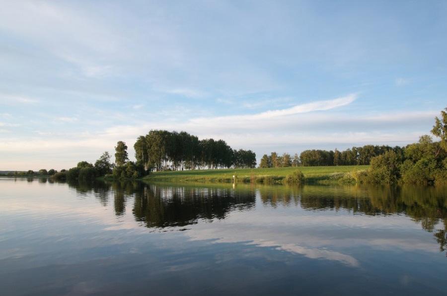 Вид на природу Рузского водохранилища