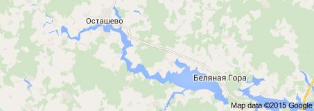 Карта Рузского водохранилища
