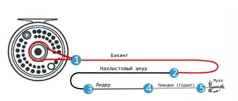 Схема нахлыстовой снасти