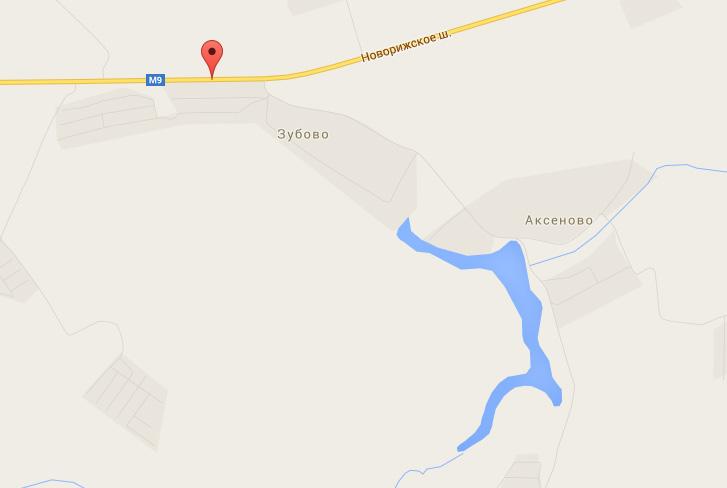 Где находится база отдыха Зубово, Карта