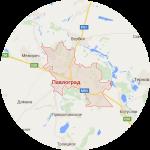 Карта окрестностей Павлограда