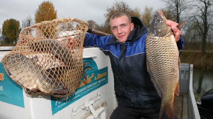 Улов рыбака на Альбе