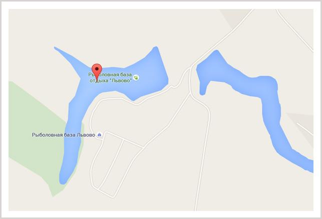 Карта Львовских прудов