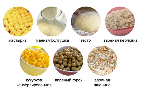Растительные компоненты прикормки
