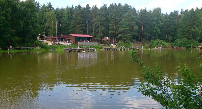 Вид на водоём в Калиновке