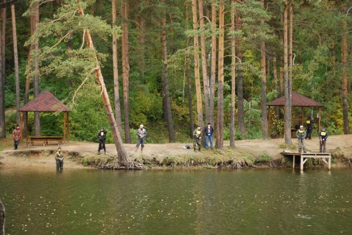 Рыбаки на реке в Калиновке