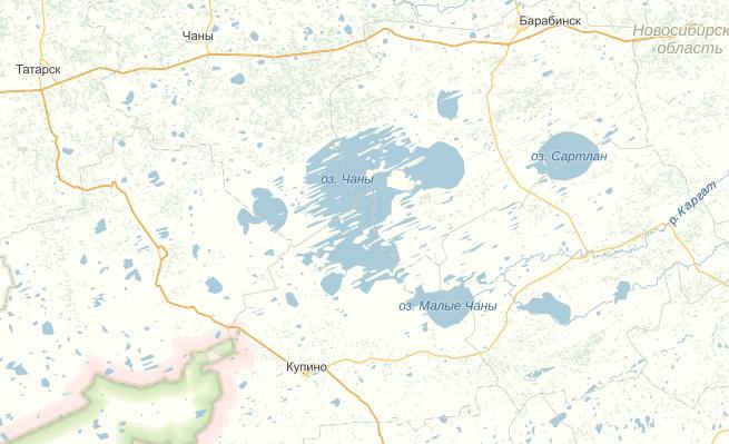 Месторасположение базы и озера